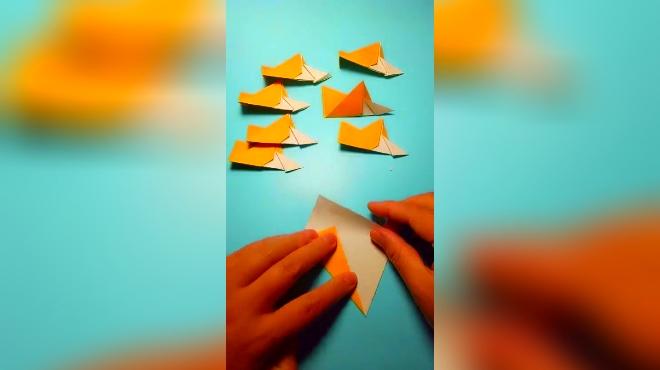 大眼看世界 01:50 亲子折纸玩具,好玩的八角飞镖,哄宝宝神器 手艺活