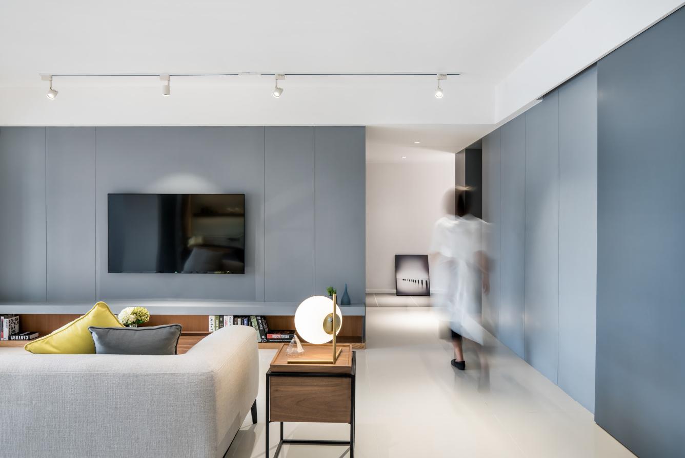 家里浓浓北欧风装修,开敞式厨房,没做沙发墙,依然很漂亮!