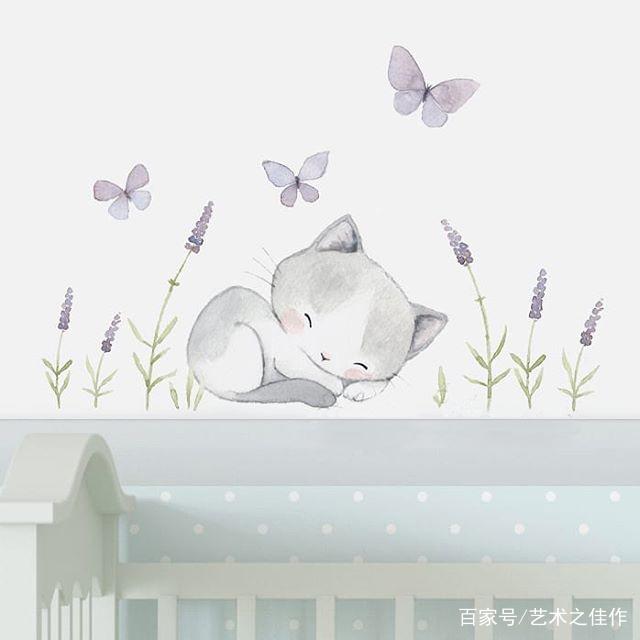 可爱的水彩卡通小动物,怎么会这么萌
