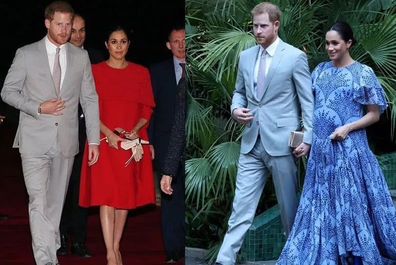 """哈里夫妇会见摩洛哥王室 """"3天7套华服""""再次惊艳众人!"""