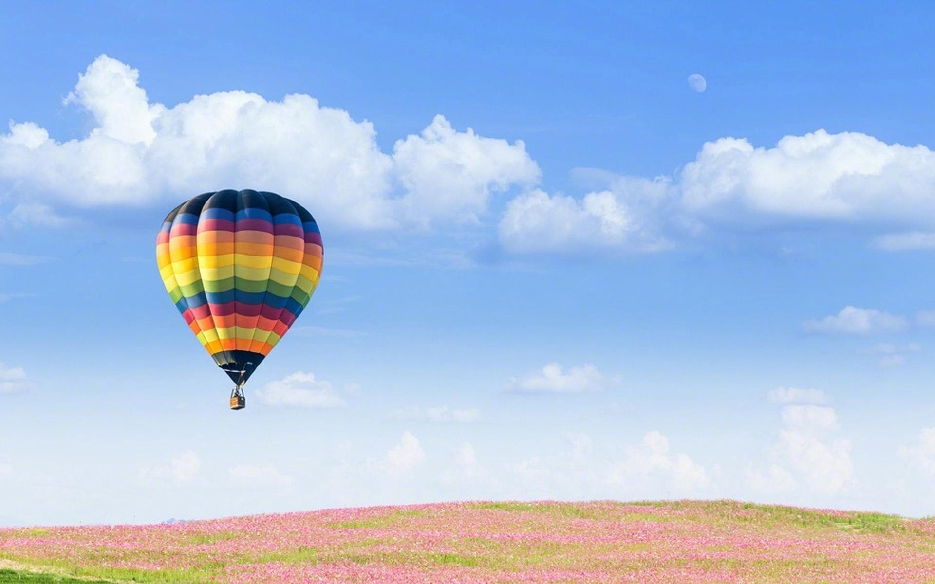 唯美热气球风景图片桌面壁纸,分辨率:1920x1200