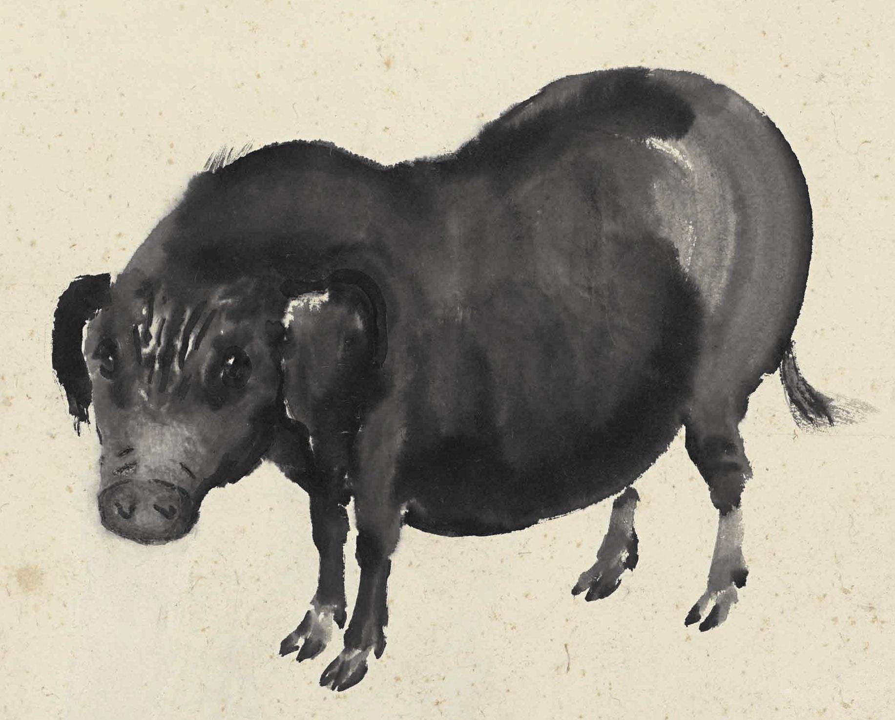 话说回来,除了徐悲鸿老师,还有哪些名家大师画过猪呢?图片