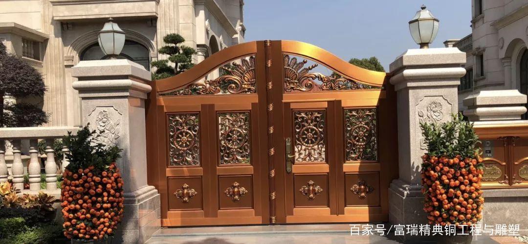 中式门,庭院门,复古门,院子门,铜门,别墅门