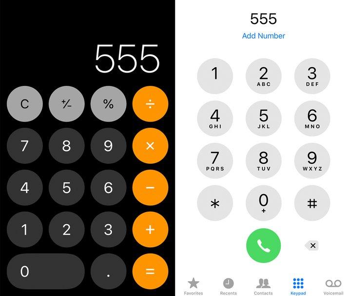 为什么手机上计算器和拨号盘的数字排序不一样?