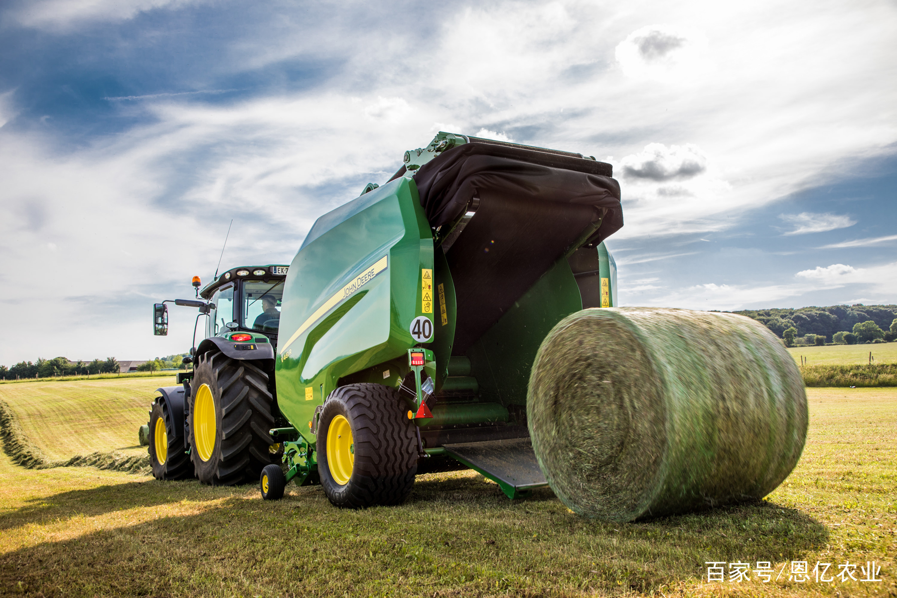 农机具_农机影集:美国约翰迪尔农机具,播种机-植保机-打捆机