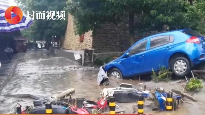 连续暴雨致汶川多处泥石流 水磨断电、映秀、三江通讯受影响