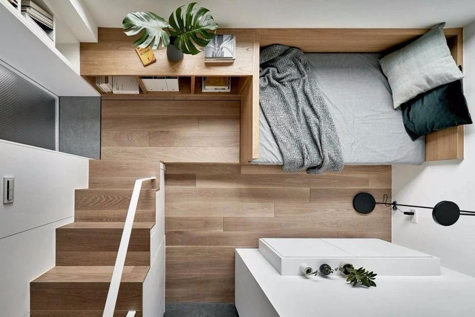 17.6㎡单身公寓,客厅、卧室、卫生间、厨房全都有,你没看错!