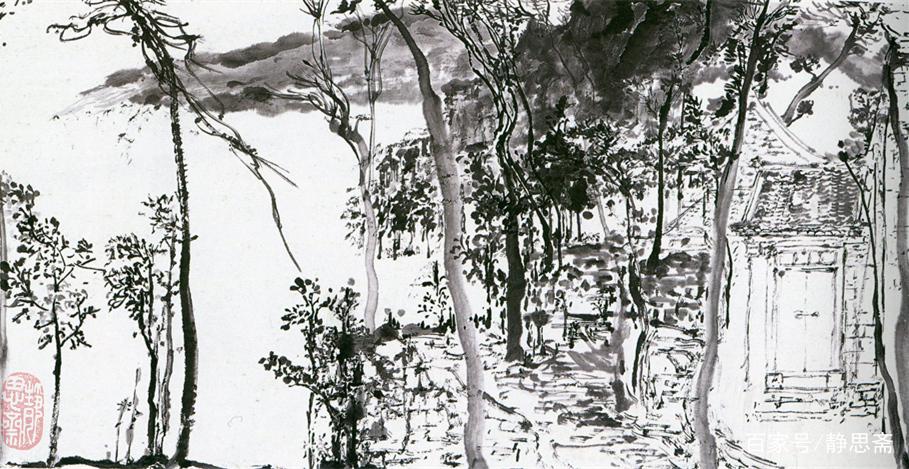 林泉之心,当代新锐画家王丛先生的山水画欣赏图片