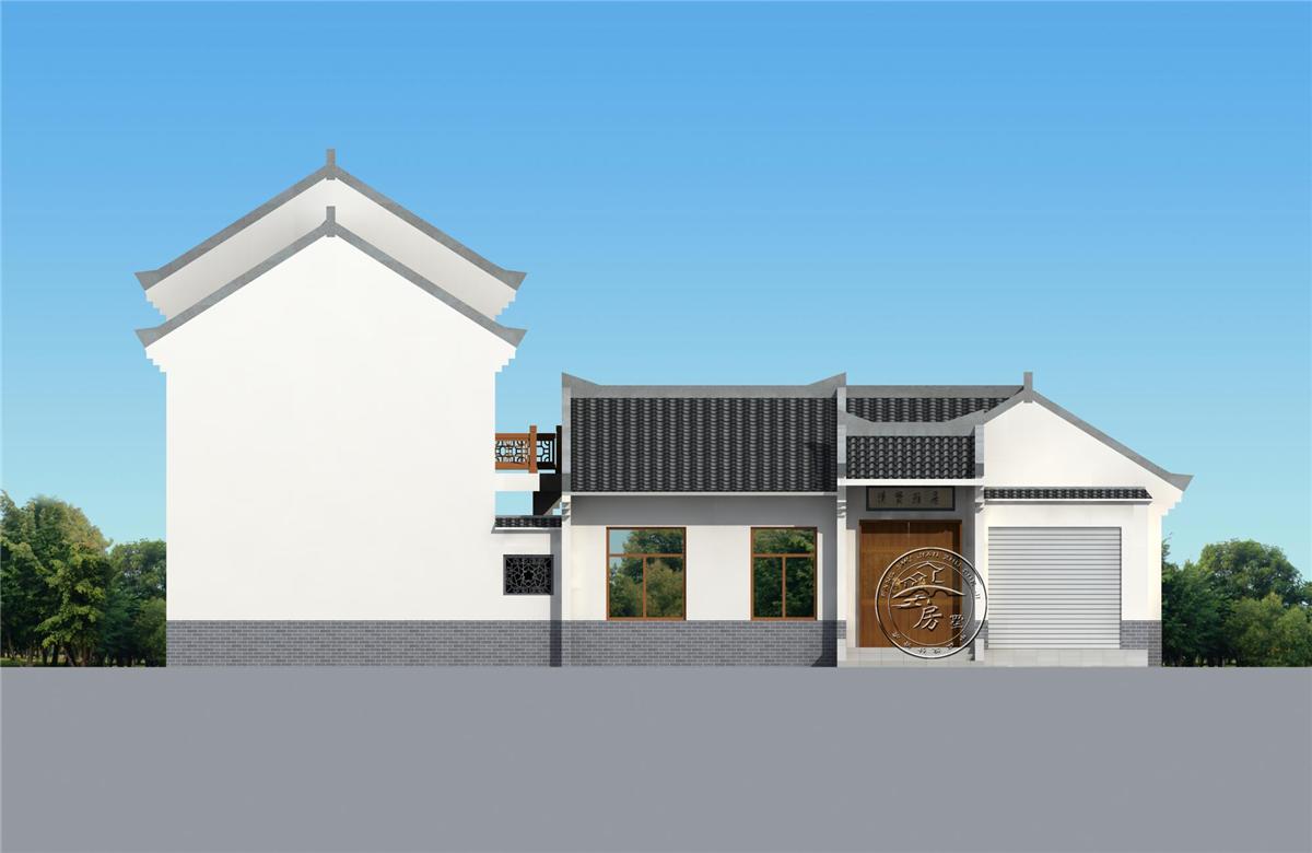 设计图分享 盖房子四合院设计图  江南四合院su模型设计图下载(图片5.
