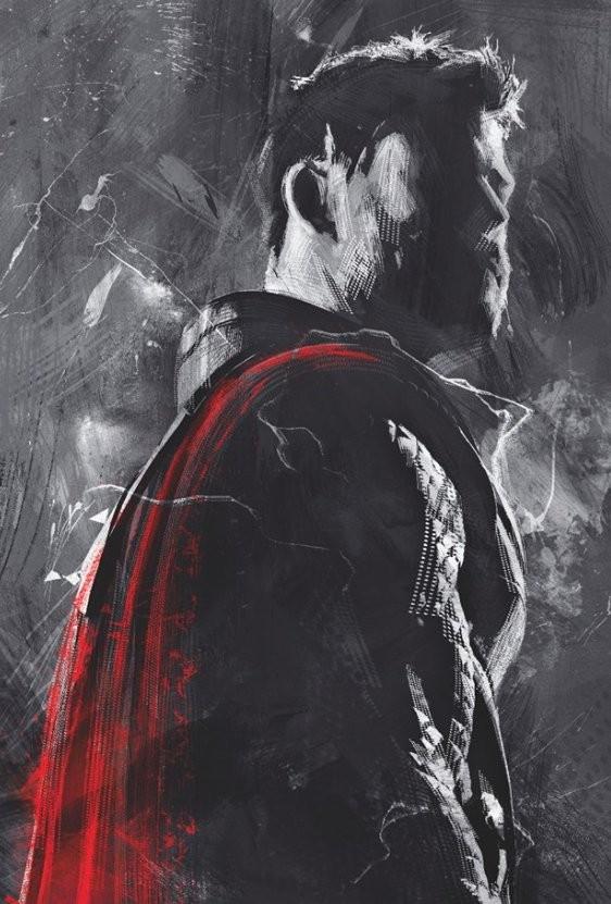 《复仇者联盟4终局之战》最新海报,复仇者全员红色背景有何暗示