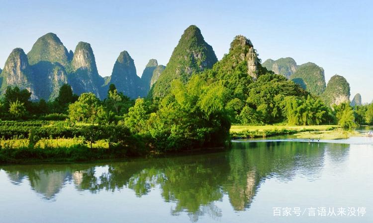 美丽的山水风光,青山绿水,这是大自然的美,是一种真实的美.