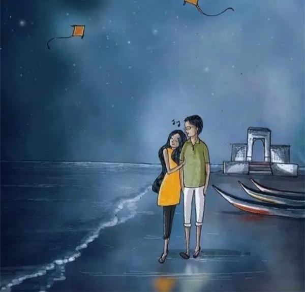 如果你爱上了一个不该爱的人,你们是不可能在一起的,只会给彼此增添图片