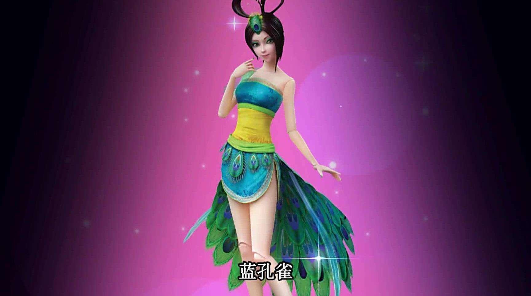 精灵梦叶罗丽:仙子在战斗结束后喜欢做的事情,蓝孔雀图片