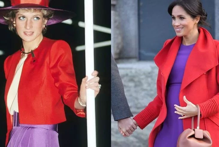 """梅根与戴安娜王妃的20次""""撞衫"""",哪位更美?"""