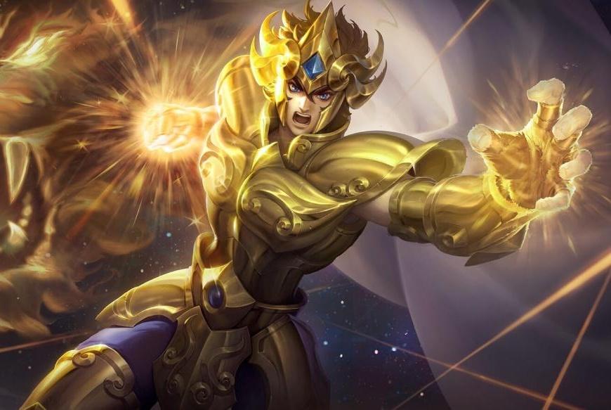 王者荣耀:耀神体验黄金狮子座皮肤,配合这个特效真是帅!