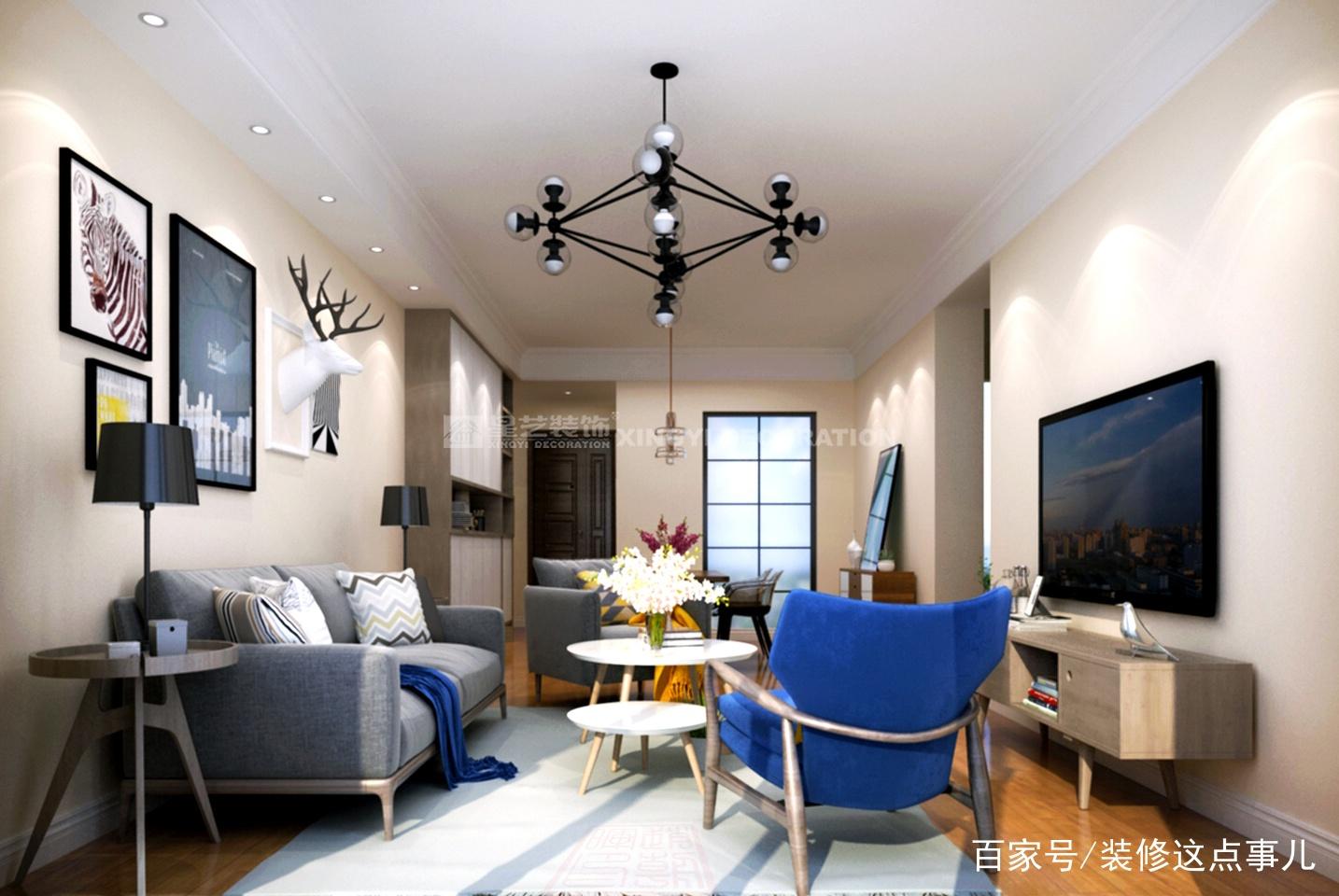 客厅电视背景墙就该这样设计,省钱耐看又实用!