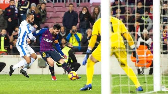 西甲:巴萨3-1莱加内斯,梅西造球+右脚破门!登贝莱 苏神齐破门