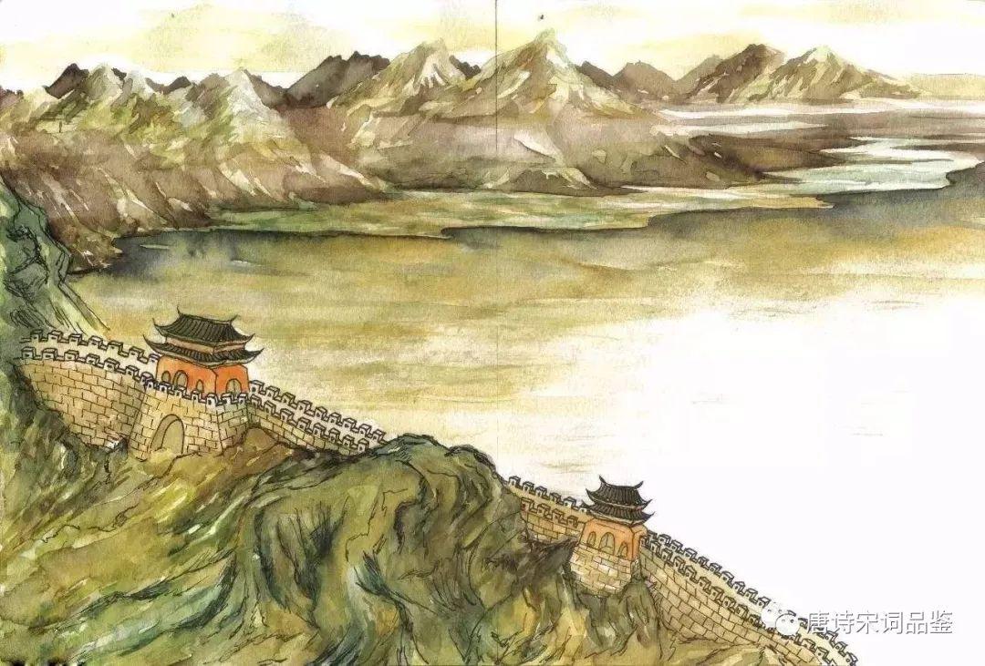 《凉州词》王之涣:黄河远上白云间