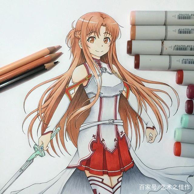 动漫人物手绘,马克笔和彩铅的完美结合,太可爱了