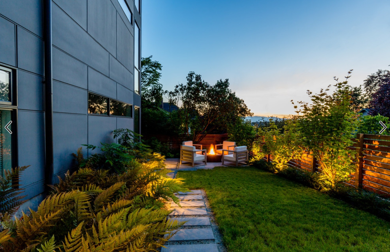 从入口看庭院全景图片