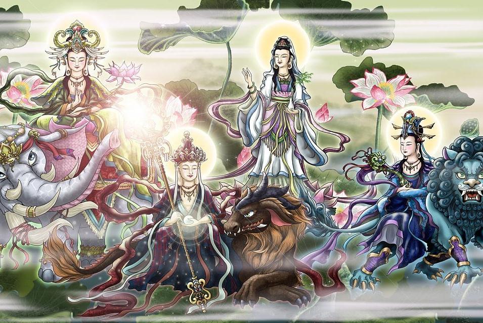四大菩萨为何只有三位派坐骑下凡为妖?