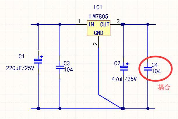 实例分析电容的四种重要作用:滤波,耦合,旁路,储能