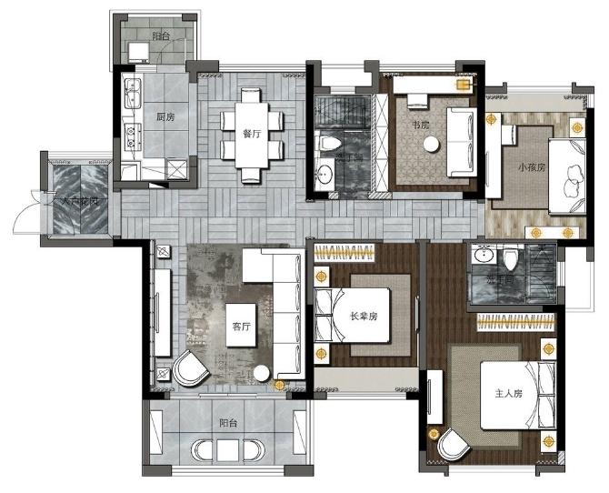 130平米的房子包括哪些功能间?装修成现代风格三居室好不好?