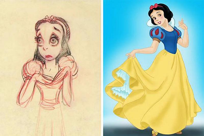 《迪士尼》经典角色原始图曝光,白雪公主太恐怖、王子看到会吓哭