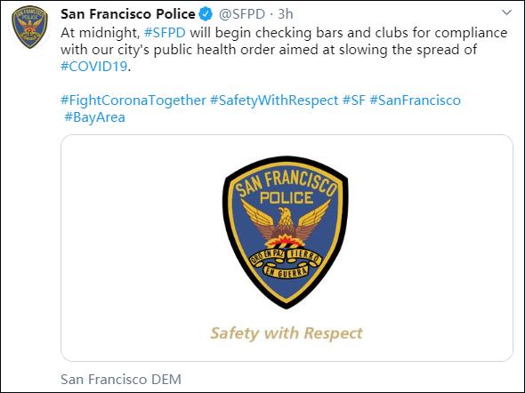 旧金山宣布封城