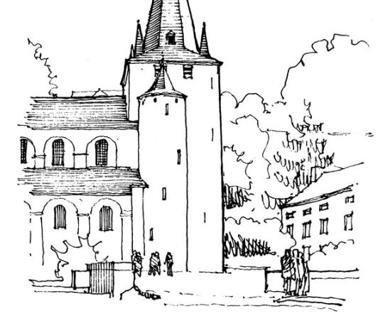 美图:欧式风格建筑手绘线稿集分享