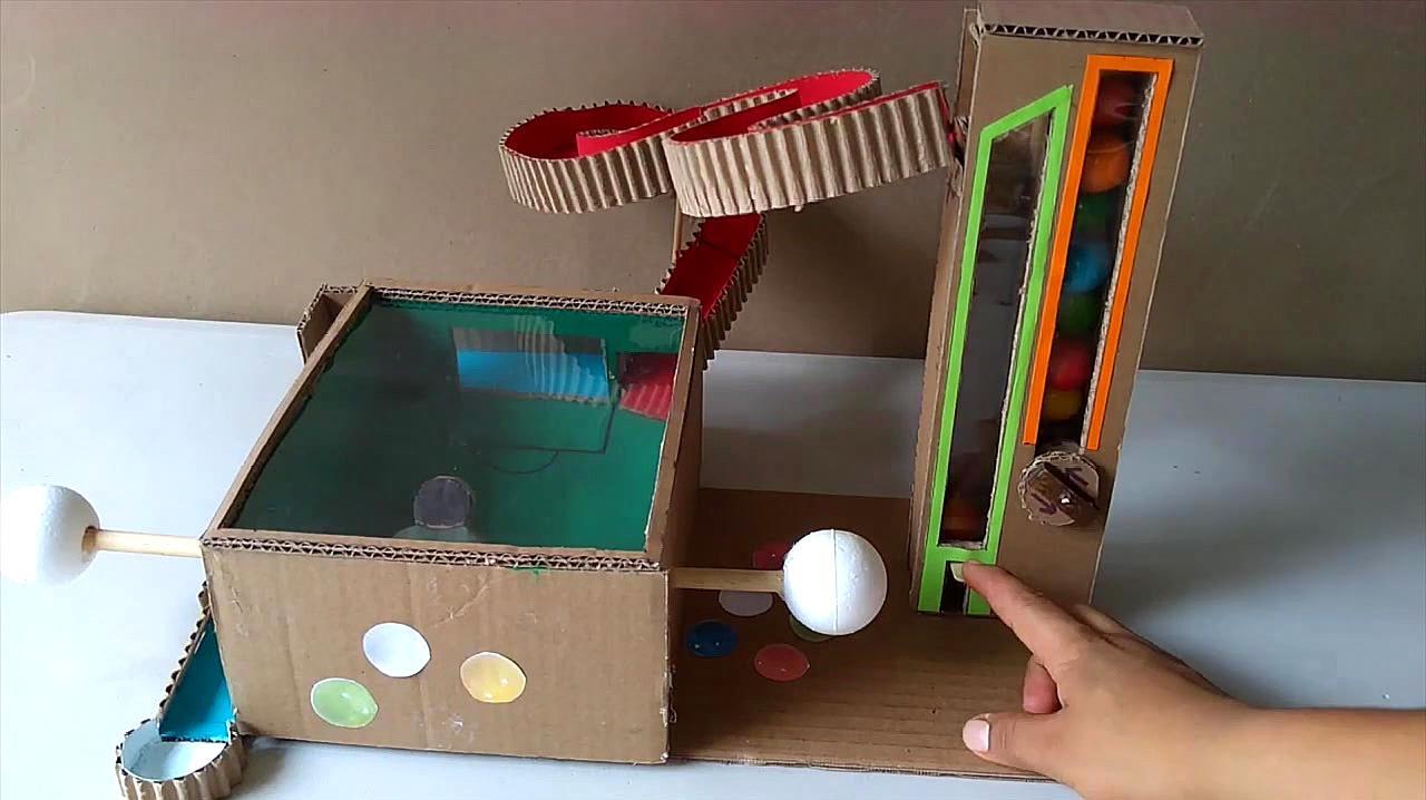创意手工 哇!如何用纸板给孩子DIY时尚的点球游戏?