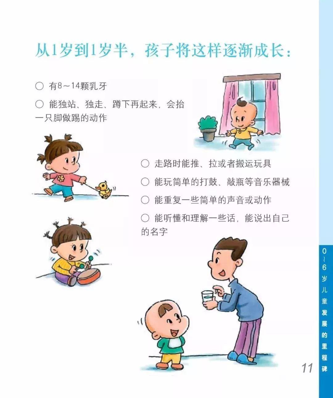 1岁-1岁半宝宝成长过程