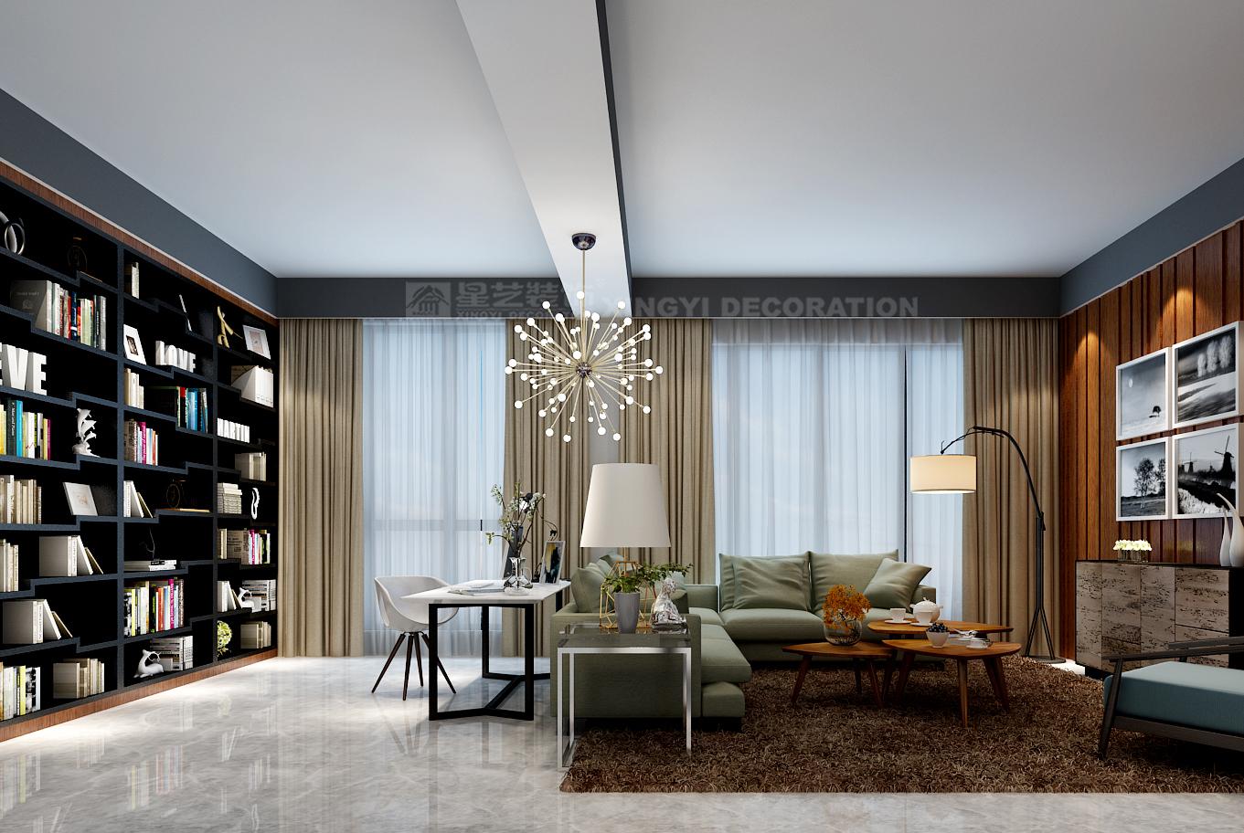 三房改一房,这套案例的客厅设计我给满分!