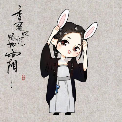 香蜜q版:兔子耳朵锦觅好可爱,温润如玉夜神本神,最帅