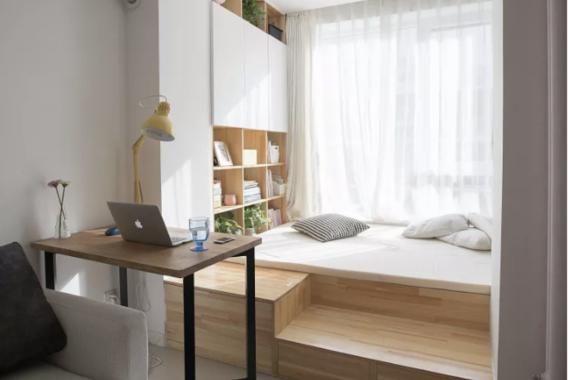 """28㎡小宅,睡在""""衣柜上方"""",一样精致舒适,小夫妻温馨入住!"""