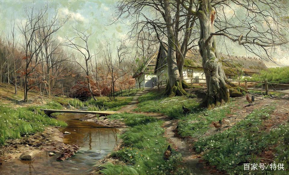 大師級風景油畫欣賞:丹麥畫家蒙森德(1859-1941)作品選