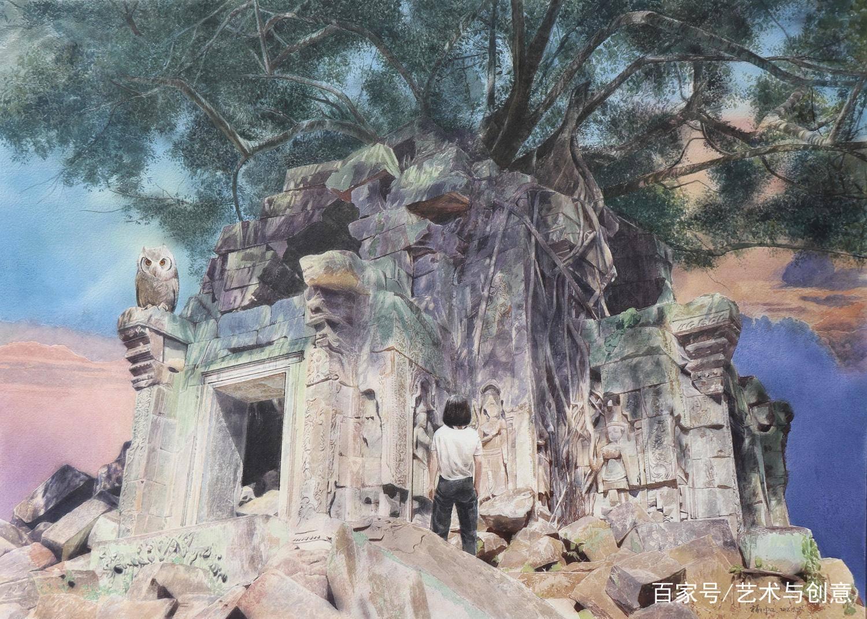 湖北美院毕业生杨帆水彩画风景创作作品