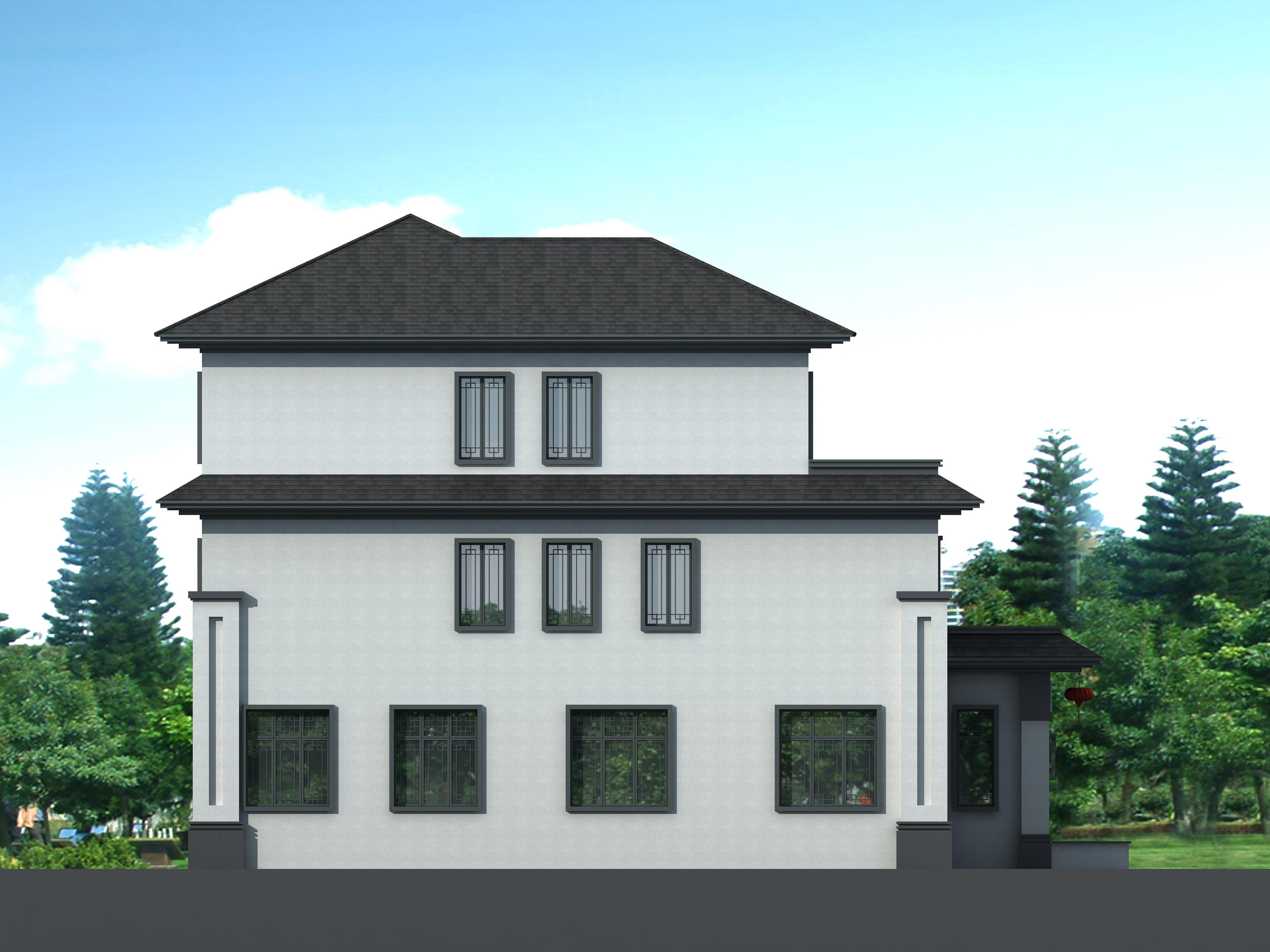 别墅设计:结合新中式和欧式风格的别墅,符合我们的生活及审美