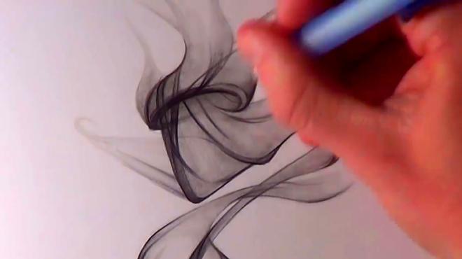 超酷的手绘系列-手绘烟雾