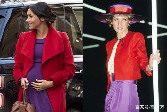凯特王妃紫色旧衣正面刚梅根,英国王室时尚宫斗剧越来越精彩