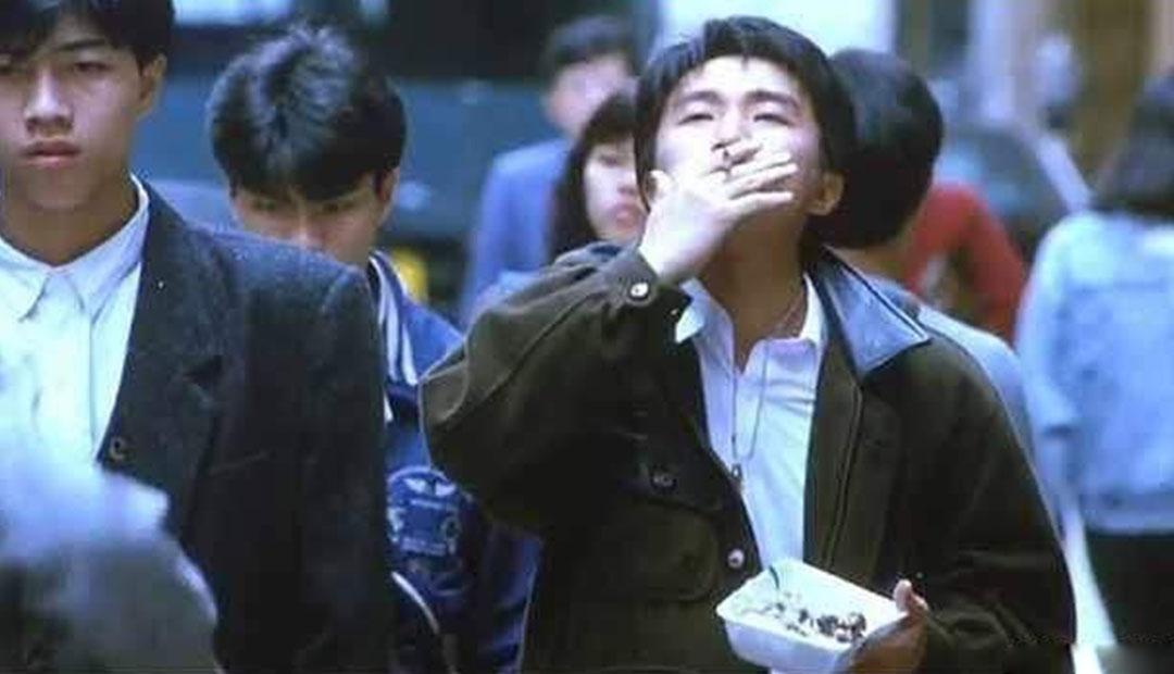 刘德华鼓腮帮,张国荣摸头发,明星抽烟小动作,周星驰没