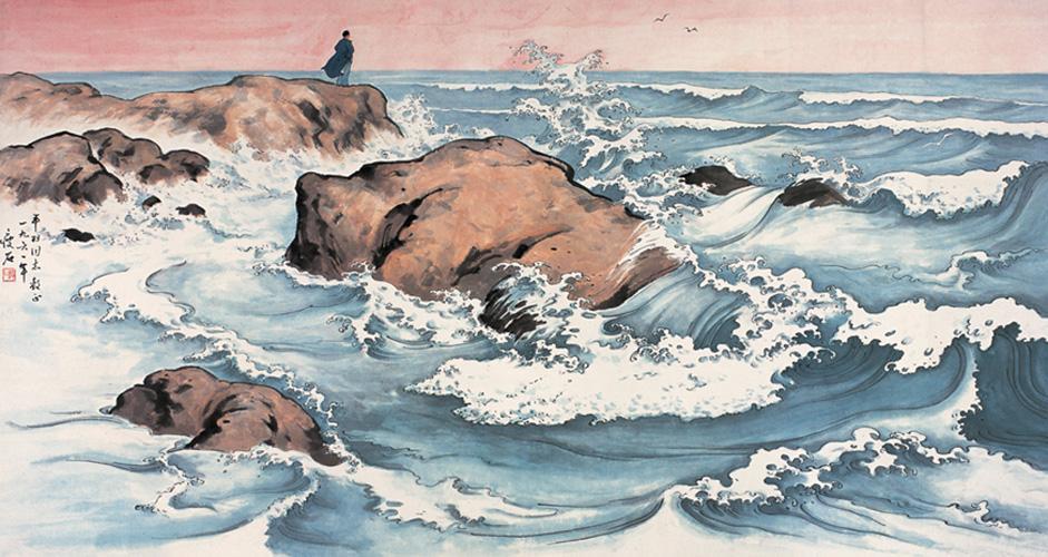 """""""东临碣石,以观沧海"""",诗人借用沧海的景色来抒发胸中的情怀"""