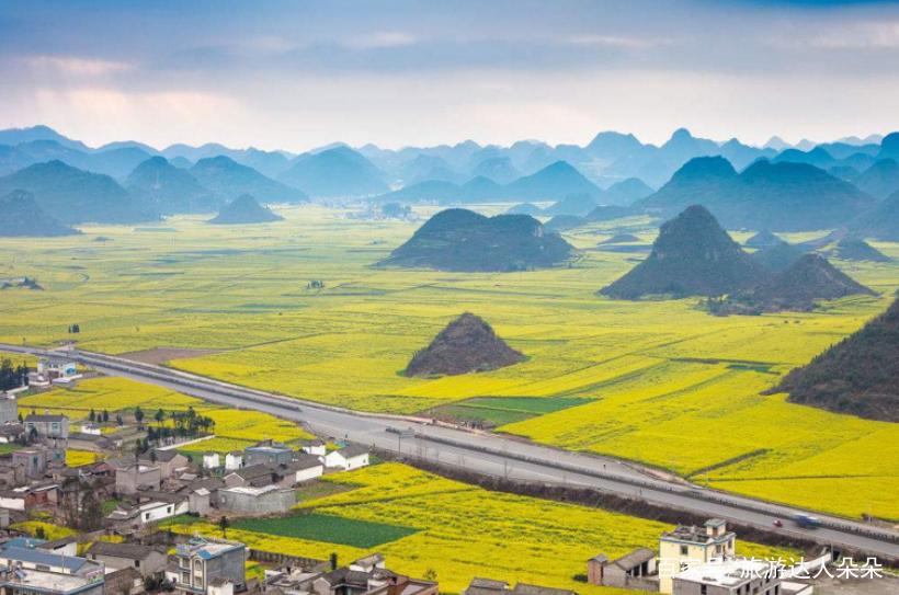 圖集:中國云南省曲靖市羅平油菜花海,太美了簡直就是