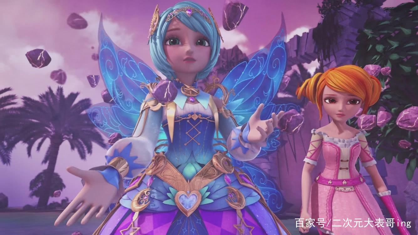 星学院:主角少女终极变身,纷纷变出唯美翅膀,谁的造型