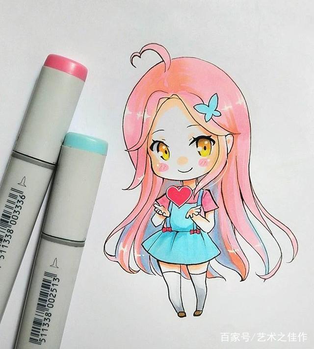手绘马克笔小可爱,喜欢吗