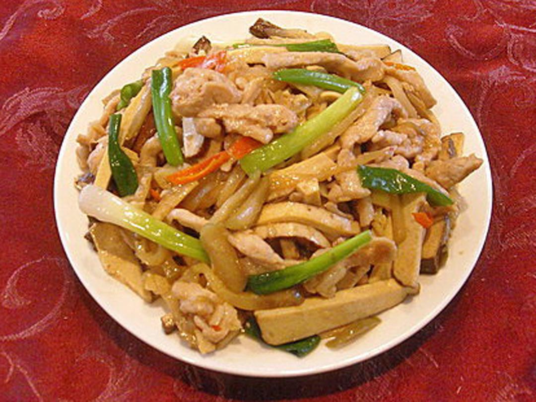 榨猪肉干肉丝菜豆煲罗汉果图片