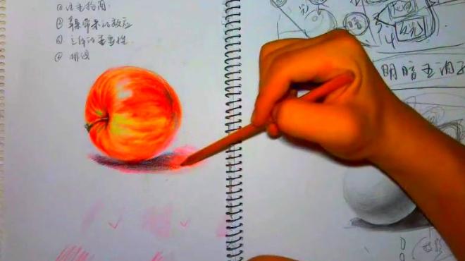 彩铅手绘教程 第九节 彩色画与黑白画调子的区别