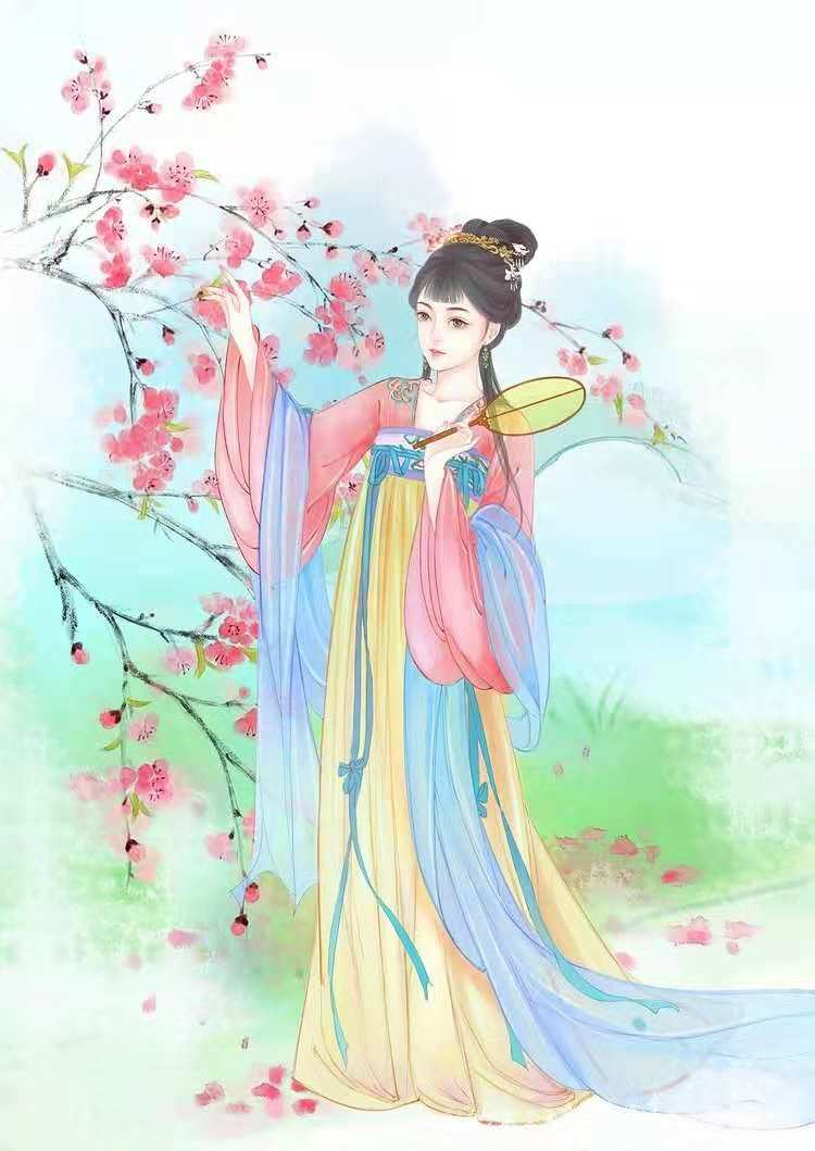 古风手绘女生唯美壁纸,初次见你,一见如故眉目成书!