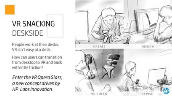 惠普推出新概念眼镜Opera Glass,可实现快速VR沉浸 AR资讯 第2张