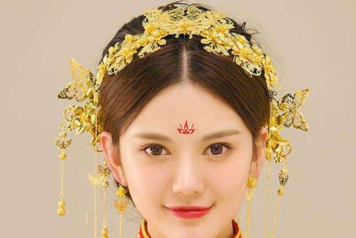 十二星座专属中式新娘头饰,双子座的最简单,处女座的最华丽